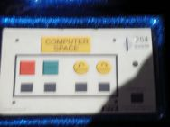 Computer space control panel blue